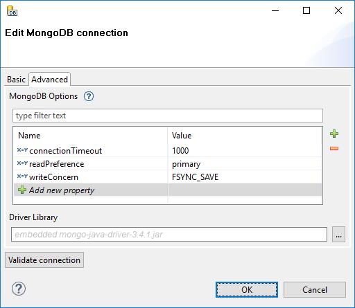 MongoDB Connections | CloverDX 5 3 0 Documentation