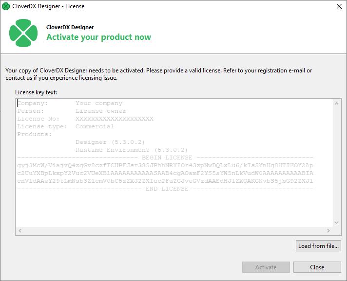 License formatting key in java | Peatix
