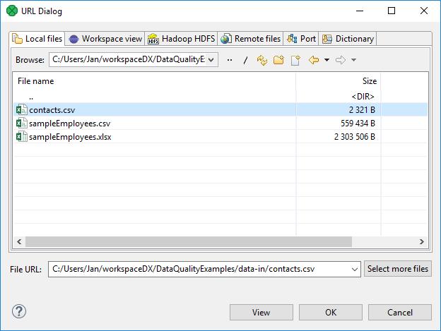 URL File Dialog | CloverDX 5 3 0 Documentation