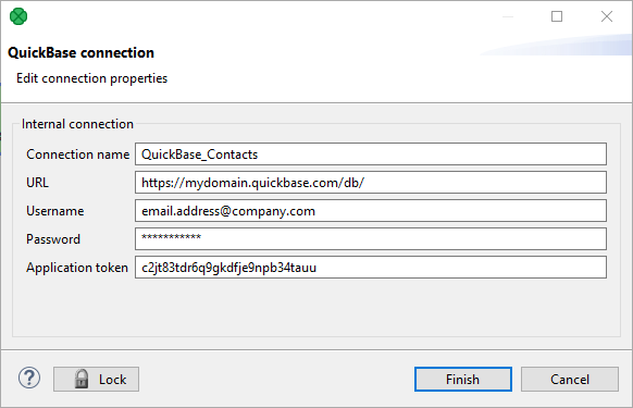QuickBase Connections | CloverDX 5 3 1 Documentation