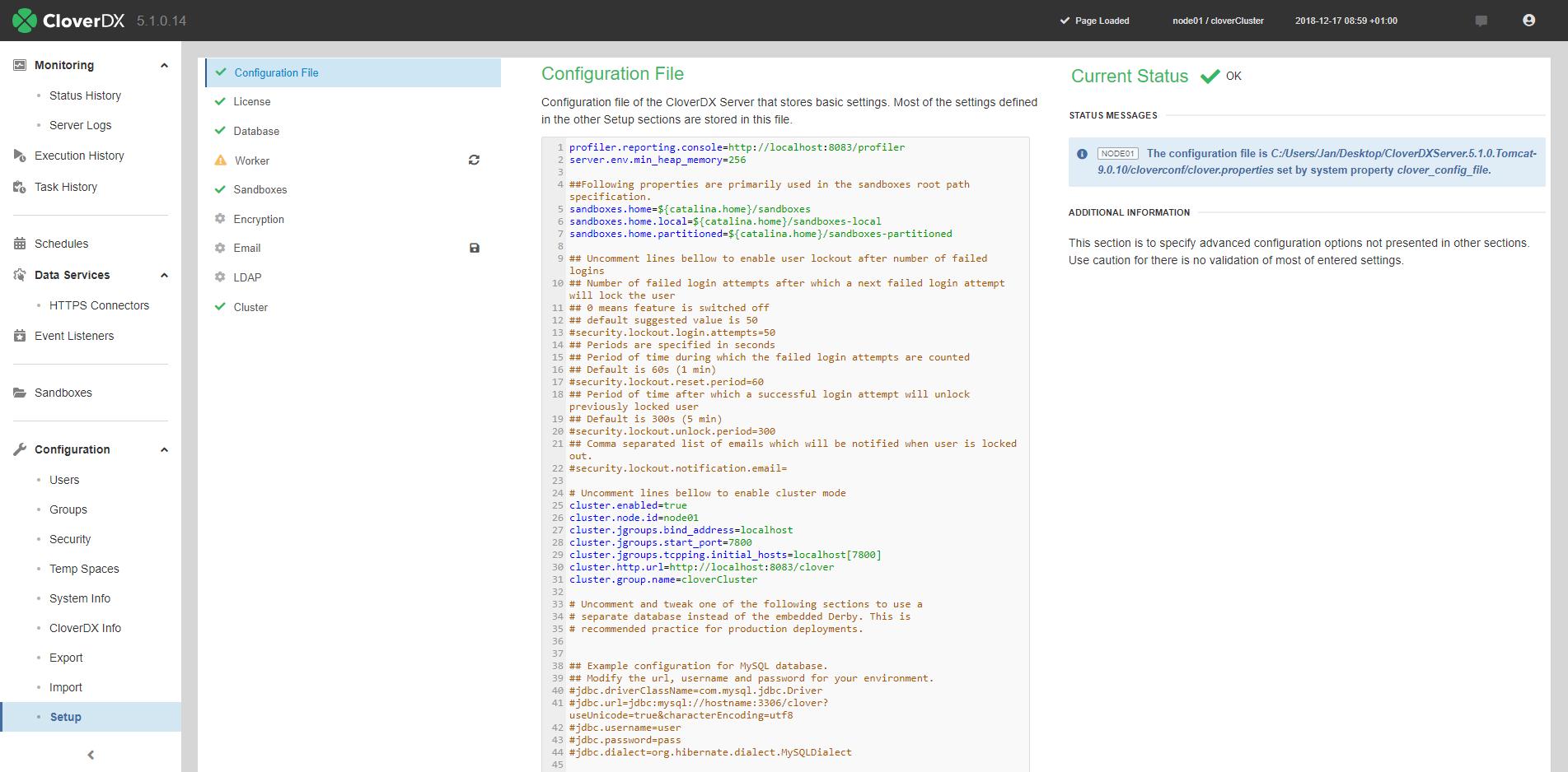 Setup | CloverDX 5 3 0 Documentation